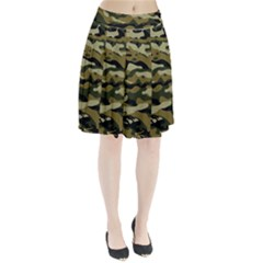 Military Vector Pattern Texture Pleated Skirt