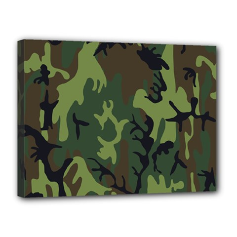 Military Camouflage Pattern Canvas 16  X 12  by BangZart