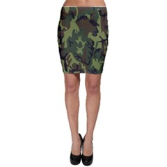 Military Camouflage Pattern Bodycon Skirt