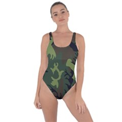 Military Camouflage Pattern Bring Sexy Back Swimsuit