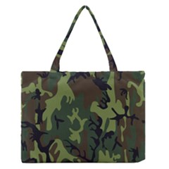 Military Camouflage Pattern Medium Zipper Tote Bag by BangZart