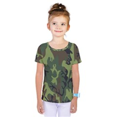 Military Camouflage Pattern Kids  One Piece Tee