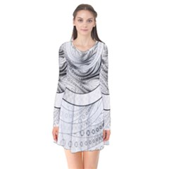Enso, A Perfect Black And White Zen Fractal Circle Flare Dress