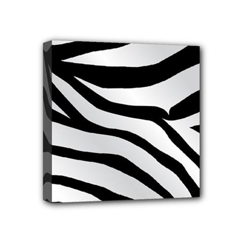 White Tiger Skin Mini Canvas 4  X 4