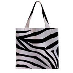 White Tiger Skin Grocery Tote Bag by BangZart