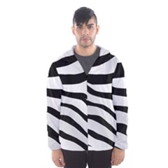 White Tiger Skin Hooded Wind Breaker (men) by BangZart