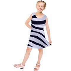 White Tiger Skin Kids  Tunic Dress