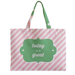 Today Will Be Great Zipper Mini Tote Bag by BangZart