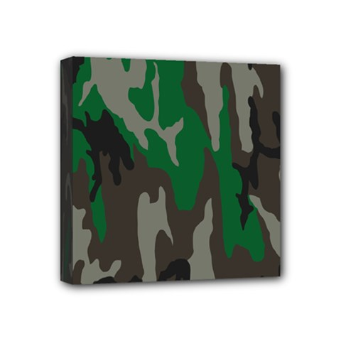 Army Green Camouflage Mini Canvas 4  X 4