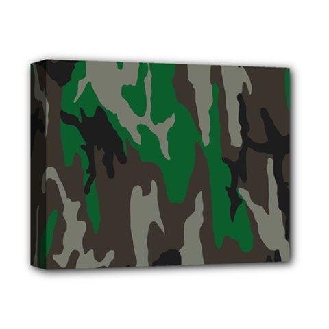Army Green Camouflage Deluxe Canvas 14  X 11  by BangZart