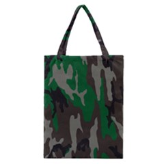 Army Green Camouflage Classic Tote Bag by BangZart