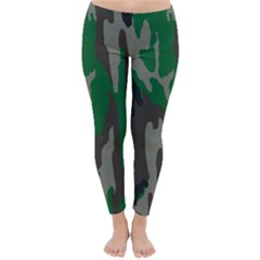Army Green Camouflage Classic Winter Leggings