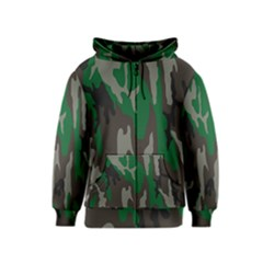 Army Green Camouflage Kids  Zipper Hoodie