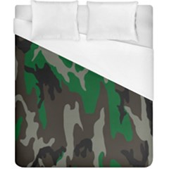 Army Green Camouflage Duvet Cover (california King Size) by BangZart