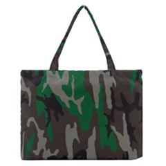 Army Green Camouflage Medium Zipper Tote Bag
