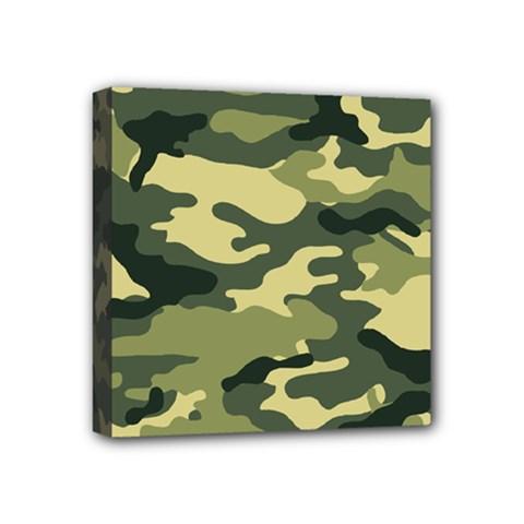 Camouflage Camo Pattern Mini Canvas 4  X 4  by BangZart