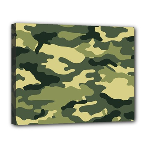 Camouflage Camo Pattern Canvas 14  X 11  by BangZart