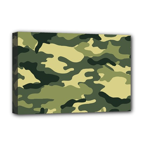 Camouflage Camo Pattern Deluxe Canvas 18  X 12   by BangZart