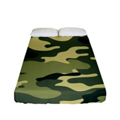 Camouflage Camo Pattern Fitted Sheet (full/ Double Size)