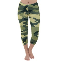 Camouflage Camo Pattern Capri Winter Leggings