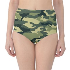 Camouflage Camo Pattern High Waist Bikini Bottoms