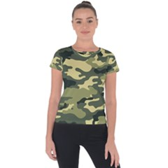 Camouflage Camo Pattern Short Sleeve Sports Top