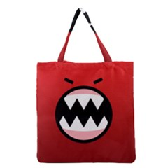 Funny Angry Grocery Tote Bag by BangZart
