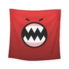 Funny Angry Square Tapestry (small) by BangZart