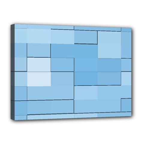 Blue Squares Iphone 5 Wallpaper Canvas 16  X 12