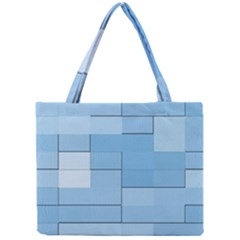 Blue Squares Iphone 5 Wallpaper Mini Tote Bag