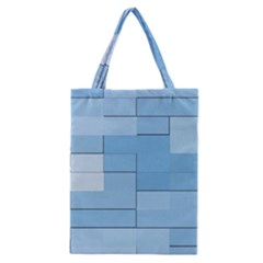 Blue Squares Iphone 5 Wallpaper Classic Tote Bag by BangZart