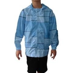 Blue Squares Iphone 5 Wallpaper Hooded Wind Breaker (kids)