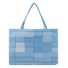 Blue Squares Iphone 5 Wallpaper Medium Tote Bag by BangZart