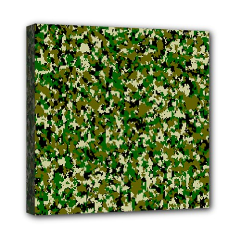 Camo Pattern Mini Canvas 8  X 8