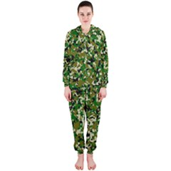Camo Pattern Hooded Jumpsuit (ladies)