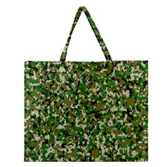 Camo Pattern Zipper Large Tote Bag