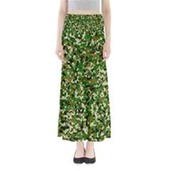 Camo Pattern Full Length Maxi Skirt