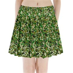 Camo Pattern Pleated Mini Skirt by BangZart
