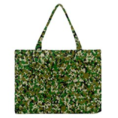 Camo Pattern Medium Zipper Tote Bag