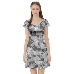 Camouflage Patterns Short Sleeve Skater Dress