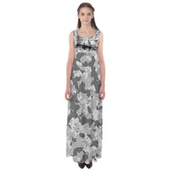 Camouflage Patterns Empire Waist Maxi Dress