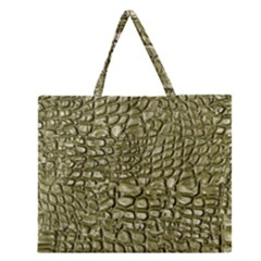 Aligator Skin Zipper Large Tote Bag