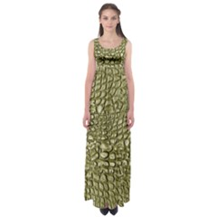 Aligator Skin Empire Waist Maxi Dress