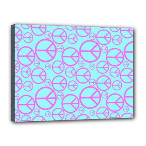 Peace Sign Backgrounds Canvas 16  X 12  by BangZart