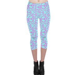 Peace Sign Backgrounds Capri Leggings