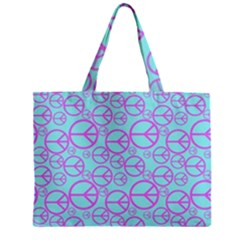 Peace Sign Backgrounds Zipper Mini Tote Bag by BangZart