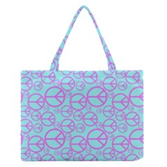 Peace Sign Backgrounds Medium Zipper Tote Bag