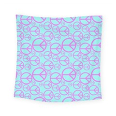 Peace Sign Backgrounds Square Tapestry (small)
