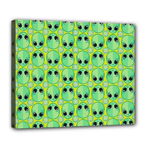 Alien Pattern Deluxe Canvas 24  X 20   by BangZart