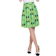 Alien Pattern A Line Skirt